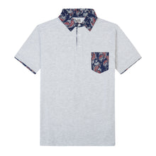 THE BREWSTER MIXED MEDIA POLO IN LIGHT GREY