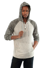 The Savannah Long Sleeve Hoodie in Grey/DarkGrey