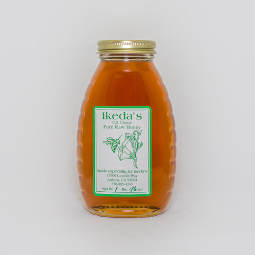 Ikedas Pure Raw Local Honey 1lb