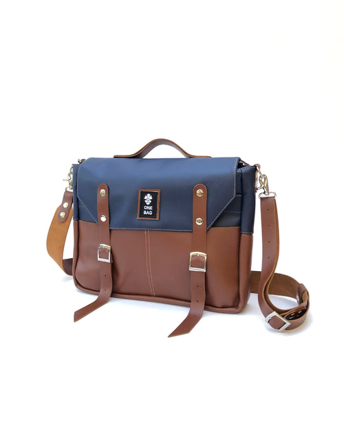 Brownie Bag Blue Brown