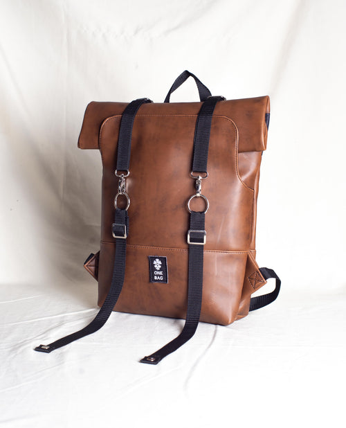 Roll-Bag Textured brown