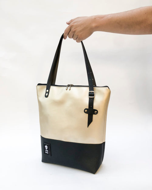 Tote Bag Gold Black