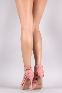 Qupid Strappy Platform Stiletto Heel