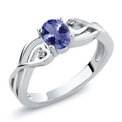 0.46ct Natural Tanzanite Ring - jpgstorepro.com/ring/bracelet/earrings/necklace/birthstone/gemstone/sterling silver/ruby/emerald/sapphire/diamond/amethyst/aquamarine/citrine