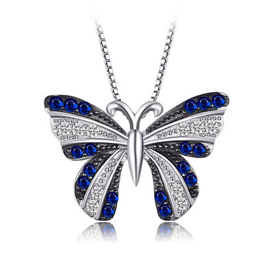 0.4ct Sapphire Butterfly Necklace - jpgstorepro.com/ring/bracelet/earrings/necklace/birthstone/gemstone/sterling silver/ruby/emerald/sapphire/diamond/amethyst/aquamarine/citrine