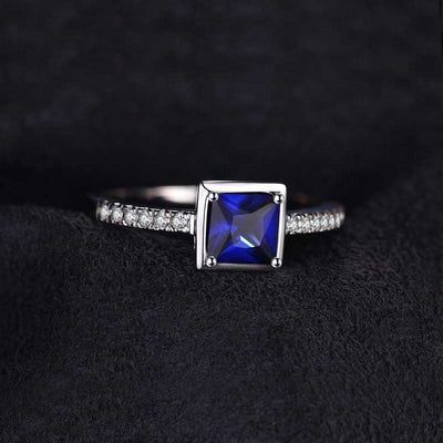 0.9ct Natural Sapphire Ring - jpgstorepro.com/ring/bracelet/earrings/necklace/birthstone/gemstone/sterling silver/ruby/emerald/sapphire/diamond/amethyst/aquamarine/citrine