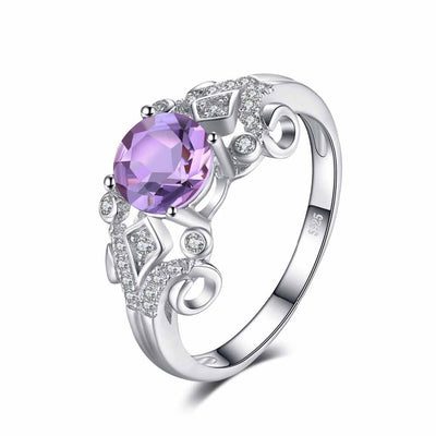1.1ct Genuine Amethyst Ring - jpgstorepro.com/ring/bracelet/earrings/necklace/birthstone/gemstone/sterling silver/ruby/emerald/sapphire/diamond/amethyst/aquamarine/citrine