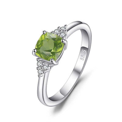 1.2ct Genuine Gem Peridot Ring - jpgstorepro.com/ring/bracelet/earrings/necklace/birthstone/gemstone/sterling silver/ruby/emerald/sapphire/diamond/amethyst/aquamarine/citrine