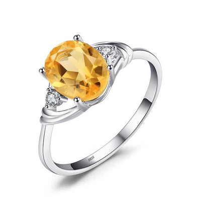 1.8ct Natural Citrine Ring - jpgstorepro.com/ring/bracelet/earrings/necklace/birthstone/gemstone/sterling silver/ruby/emerald/sapphire/diamond/amethyst/aquamarine/citrine