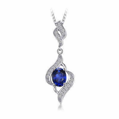 1.95ct Gemstone Silver Necklace - jpgstorepro.com/ring/bracelet/earrings/necklace/birthstone/gemstone/sterling silver/ruby/emerald/sapphire/diamond/amethyst/aquamarine/citrine