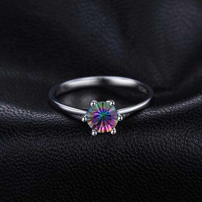 1ct Mystic Topaz Ring - jpgstorepro.com/ring/bracelet/earrings/necklace/birthstone/gemstone/sterling silver/ruby/emerald/sapphire/diamond/amethyst/aquamarine/citrine
