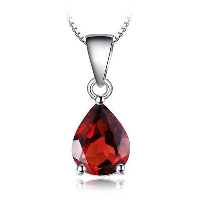2.2ct Natural Garnet Necklace - jpgstorepro.com/ring/bracelet/earrings/necklace/birthstone/gemstone/sterling silver/ruby/emerald/sapphire/diamond/amethyst/aquamarine/citrine