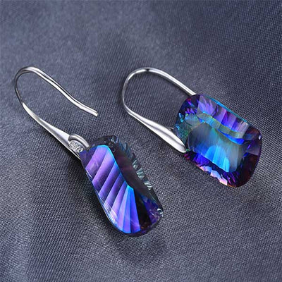 23ct Genuine Mystic Topaz Earrings - jpgstorepro.com/ring/bracelet/earrings/necklace/birthstone/gemstone/sterling silver/ruby/emerald/sapphire/diamond/amethyst/aquamarine/citrine