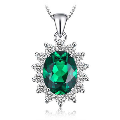 3.2ct Princess Diana Pendant - jpgstorepro.com/ring/bracelet/earrings/necklace/birthstone/gemstone/sterling silver/ruby/emerald/sapphire/diamond/amethyst/aquamarine/citrine