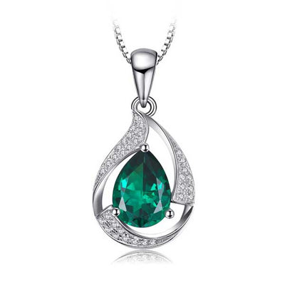 3.5 ct Emerald Gem Necklace - jpgstorepro.com