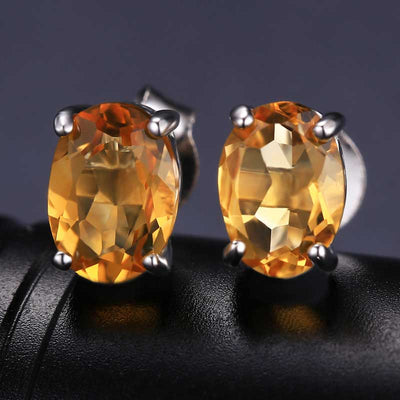 4.2ct Natural Citrine Jewelry Set - jpgstorepro.com/ring/bracelet/earrings/necklace/birthstone/gemstone/sterling silver/ruby/emerald/sapphire/diamond/amethyst/aquamarine/citrine