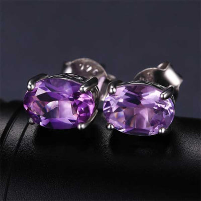 4.2ct Natural Amethyst Jewelry - jpgstorepro.com/ring/bracelet/earrings/necklace/birthstone/gemstone/sterling silver/ruby/emerald/sapphire/diamond/amethyst/aquamarine/citrine
