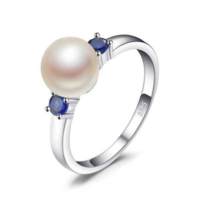 8mm Freshwater Pearl Ring - jpgstorepro.com/ring/bracelet/earrings/necklace/birthstone/gemstone/sterling silver/ruby/emerald/sapphire/diamond/amethyst/aquamarine/citrine
