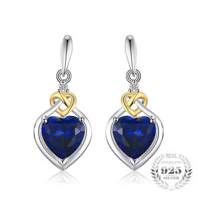 Love Heart 3.4ct Silver Earrings - jpgstorepro.com