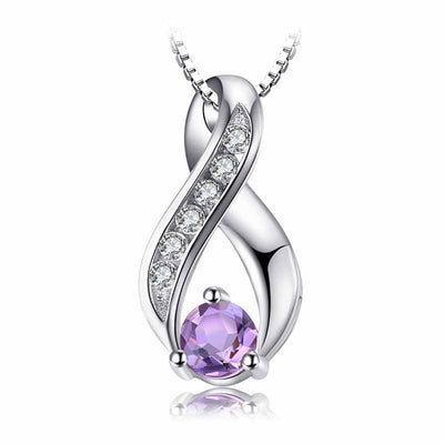 0.3ct Genuine Amethyst Necklace - jpgstorepro.com/ring/bracelet/earrings/necklace/birthstone/gemstone/sterling silver/ruby/emerald/sapphire/diamond/amethyst/aquamarine/citrine