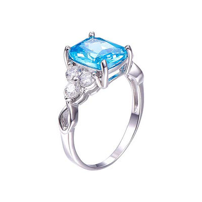 Genuine luxurious Blue Topaz Ring - jpgstorepro.com/ring/bracelet/earrings/necklace/birthstone/gemstone/sterling silver/ruby/emerald/sapphire/diamond/amethyst/aquamarine/citrine