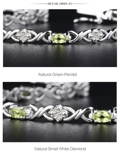 4.00 Ct Natural Peridot Bracelet