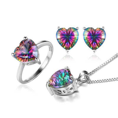Heart 4.1ct Genuine Topaz Jewelry - jpgstorepro.com/ring/bracelet/earrings/necklace/birthstone/gemstone/sterling silver/ruby/emerald/sapphire/diamond/amethyst/aquamarine/citrine