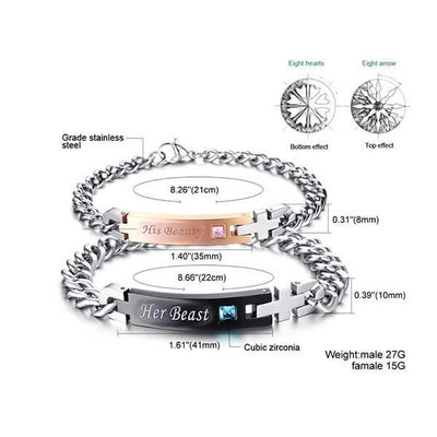 Her Beast & His Beauty Bracelet - jpgstorepro.com