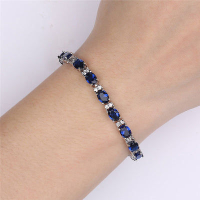 LUXURY-Blue-Spinel-Bracelets-for-Women-Genuine-925-Sterling-Silver-Jewelry-Romantic-Birthstone-Gemstone-Tennis-Bracelet-Sapphire-Ring-Necklace-Earrings