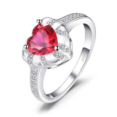 Love Heart 1.86ct Ruby Ring - jpgstorepro.com