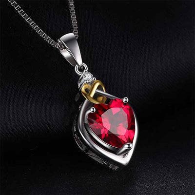 Love Knot Heart 2.5ct Red Ruby - jpgstorepro.com