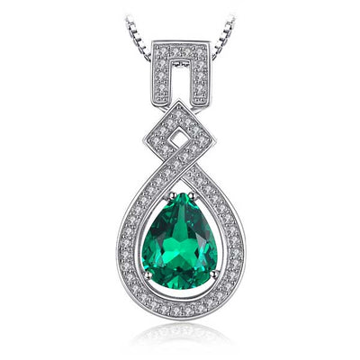 Luxury 5.09ct Emerald Necklace best mother's day luxury gift  - jpgstorepro.com