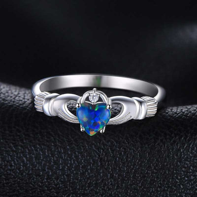 Multicolor Fire Opal Ring - jpgstorepro.com