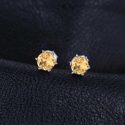 Natural Citrine Stud Earrings - jpgstorepro.com