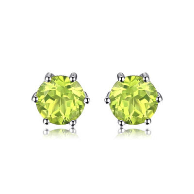 Natural Peridot Stud Earrings - jpgstorepro.com
