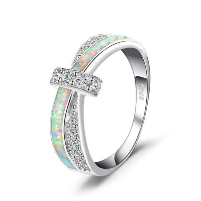 Opal Crossover Band Ring - jpgstorepro.com