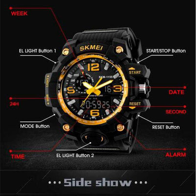 Waterproof Military Sport  Wristwatch - jpgstorepro.com