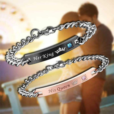 His Queen and Her King Bracelets - jpgstorepro.com