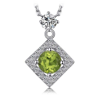 High Quality 1ct Natural Peridot Necklace - jpgstorepro.com