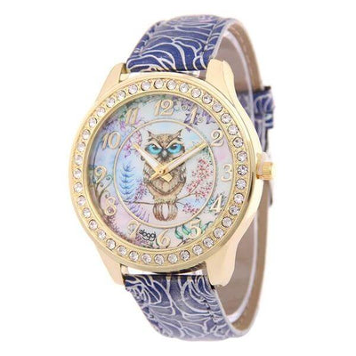 Elegant Women Owl Watch - jpgstorepro.com/ring/bracelet/earrings/necklace/birthstone/gemstone/sterling silver/ruby/emerald/sapphire/diamond/amethyst/aquamarine/citrine