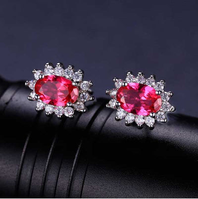 Ruby Red Princess Diana Jewelry Set - jpgstorepro.com