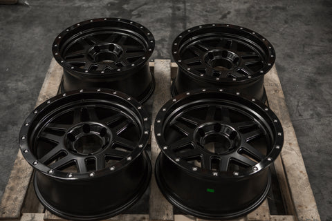 VIPER SET | 17x8.5 -10 | 6x139.7 | SATIN BLACK (VP_1785_SB)