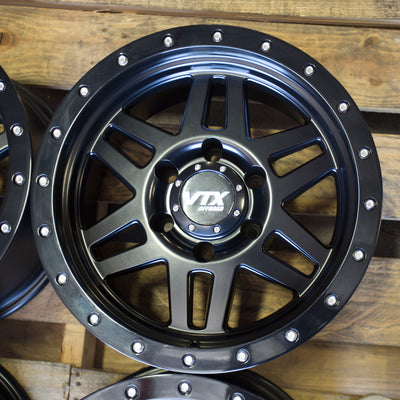 VIPER SET | 16x8 -12 | 6x139.7 | SATIN BLACK