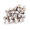 Bead Ring Bolts | Silver | Pack of 20