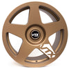 Satin Bronze Rally 5 with white spoke decal