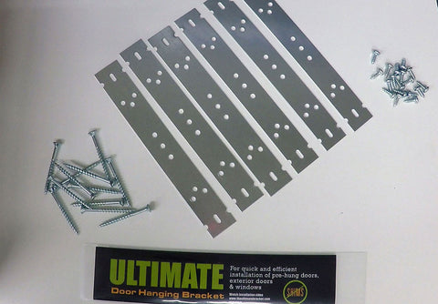 The Ultimate Door and Window Bracket is the easiest way to achieve a professional installation of doors and windows. No Shims, No Holes, No Mess! The Ultimate Bracket is fabricated using 22-gauge galvanized steel.