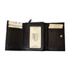 Men's Zip Coin Pocket Trifold Leather RFID Wallet