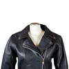 Women's Tall Classic Leather Motorcycle Jacket