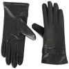 Woven Cuff Tech Leather Gloves