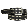 Men's Silver Stud Leather Belt